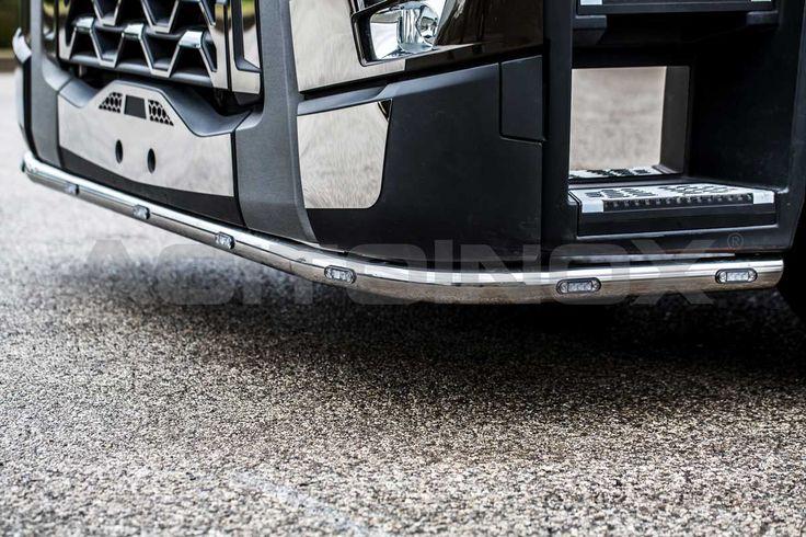 Barra paraurti di diametro 60mm in acciaio inox super mirror (aisi 304) per Renault Trucks T.
