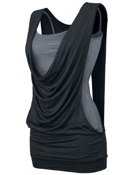 ericdress.com offers high quality  Ericdress Color Block Heap Casual T-Shirt…