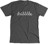 """-- Dribbble = Pinterest for """"designers"""" ... not sure LA's count, but worth watching; based in Salem, MA -- Dribbble-tee-100"""