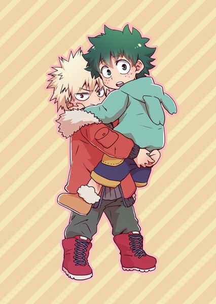 Baby Deku And Kacchan Ack Cute Deku Bakugou Tododeku