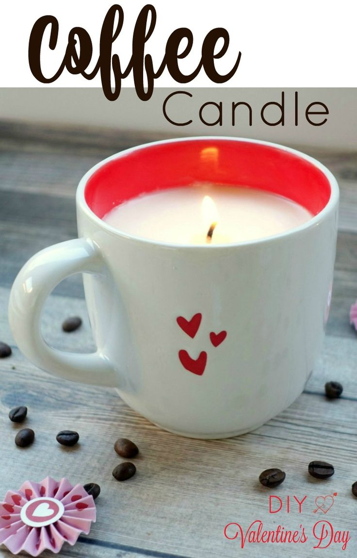 This Valentine's Day, craft something special with this super easy DIY coffee candle tutorial.