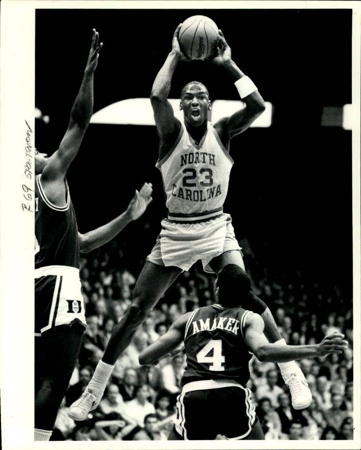 Former UNC basketball player, Michael Jordan. #VintageJordan #UNC