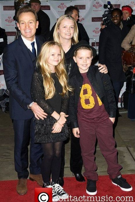 Jason Donovan with wife and kids