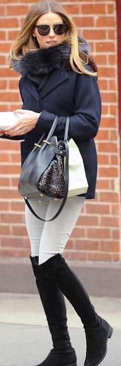 Olivia Palermo: Shoes – Stuart Weitzman  Sunglasses – Dior  Purse – Nina Ricci