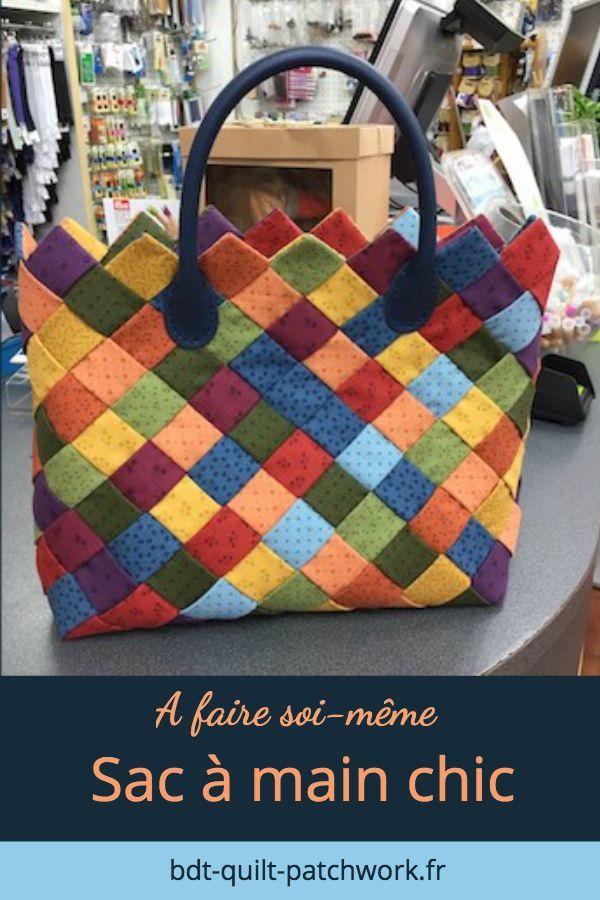 9857a5cadd Réalisez votre sac à main en tissu grâce à ce tutoriel en français à  télécharger au