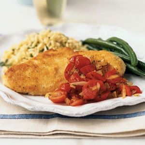 Chicken w/ cherry tomato sauce: Parmesan Chicken, Myrecipes Com, Maine Dishes, Sauce Recipes, Cherry Tomatoes, Cooking Lights, Chicken Paillard, Sauces Recipes, Cherries Tomatoes Sauces