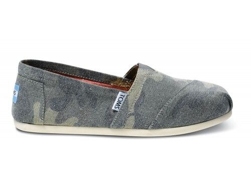 Washed Camo Canvas Women's Classics | TOMS.com #toms