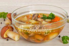 Суп с маслятами