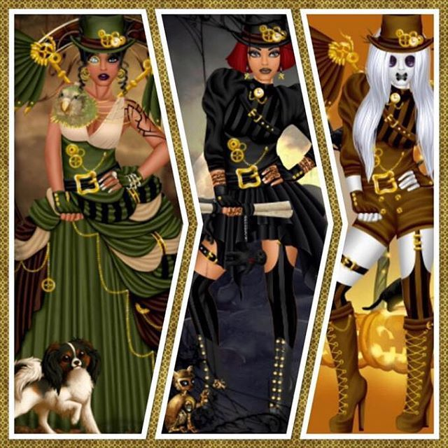 #Steampunk is #hot this year in the #Halloween #scene! Head over to #DivaChix (divachix.com) to check it out! #dressup #dressupgames #design #fashion #fashionista #fashionillustration #fashiondesign #ootd #outfitoftheday #picoftheday #photooftheday #style #pretty #girlgames #love #amazing #stylish #lookoftheday #goggles #clock #pocketwatch #spooky #amulet #pumpkin