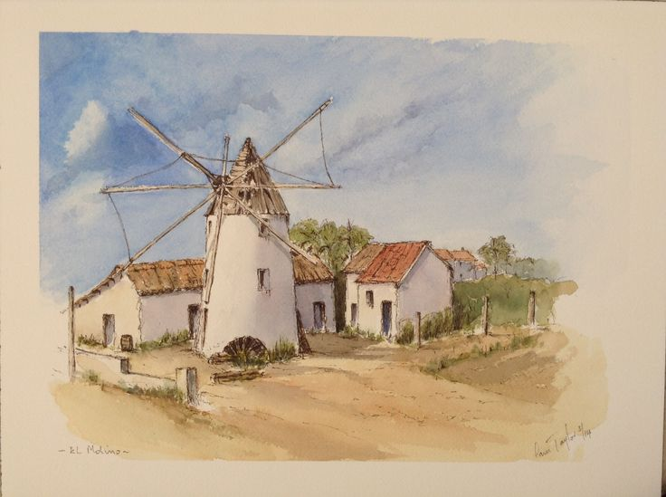 El Molino, Pen and Wash