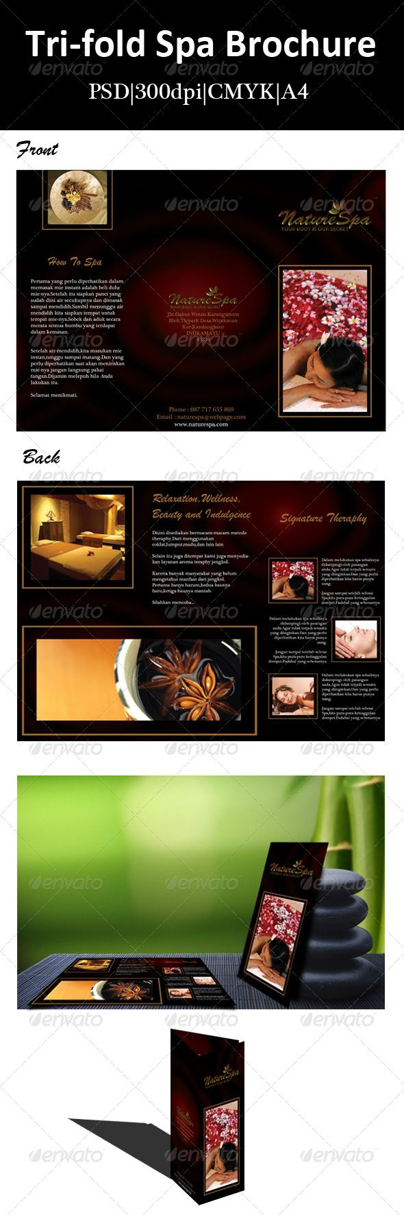 Best Spa Brochure Layout Images On   Brochure Layout