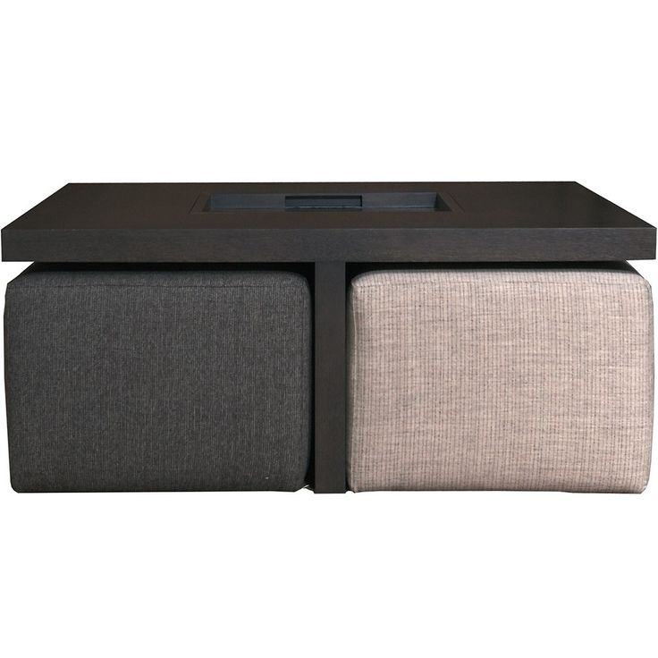 XVL Home Collection Cuba Coffee Table With Pouffes