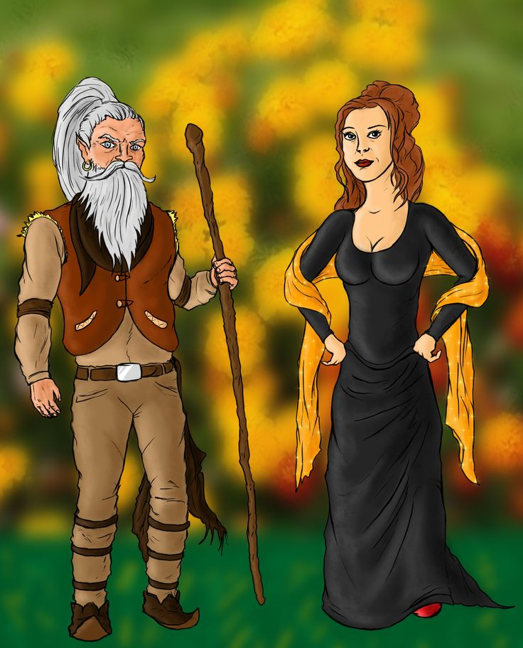 The Cromach of Sky and Mairi his lady, from 'Laird of Sky', pictured by Dima Blue