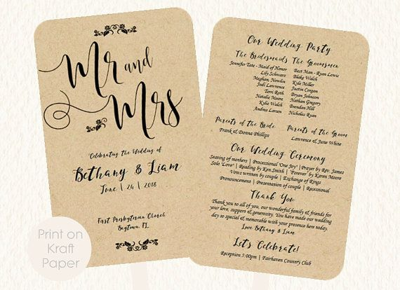 The 19 best WEDDING FAN PROGRAMS images on Pinterest Fan programs