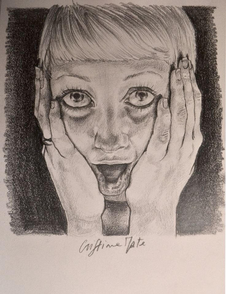 Scared portrait, Cristina Forte on ArtStation at https://www.artstation.com/artwork/scared-portrait