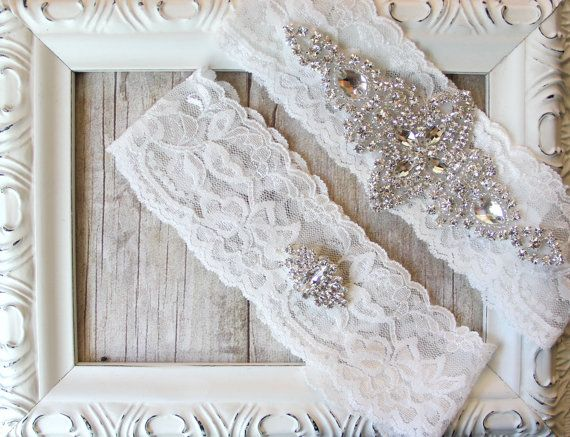 BRIDAL GARTER Vintage Wedding Garter Set With By TheLoveStory 2595