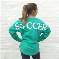 SOCCER Graphic Football Jersey Pullover, soccer sweatshirt. I need this!  https://www.electricturtles.com/collections