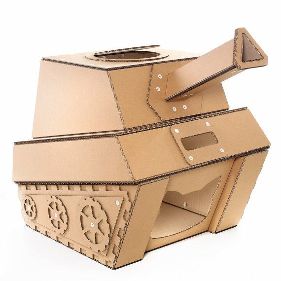how to make a small cardboard house