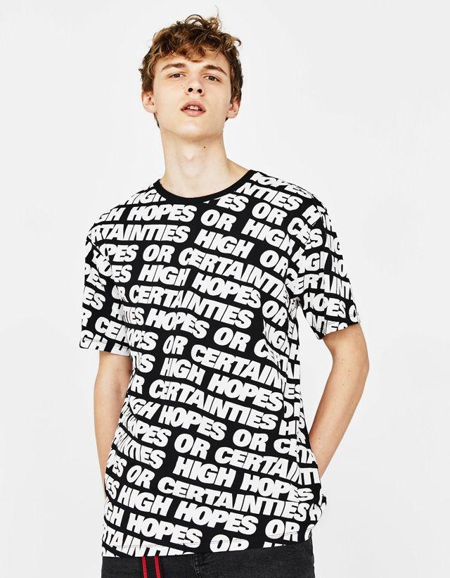 27c10f6491 Printed T-shirt | Mens Fashion 2018 in 2019 | Mens fashion 2018 ...