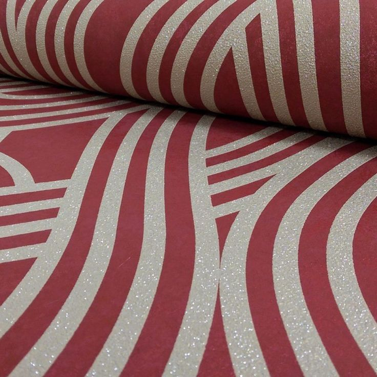 Carat Geometric Glitter Wallpaper Gold and Red P+S 13345-70
