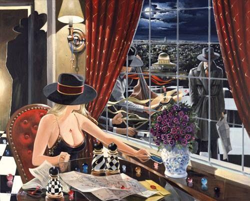 Wiktor Ostrowski - przy oknie