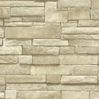 The Wallpaper Company, 56 sq. ft. Neutral Stone Wallpaper, WC1281976 at The Home Depot - Mobile