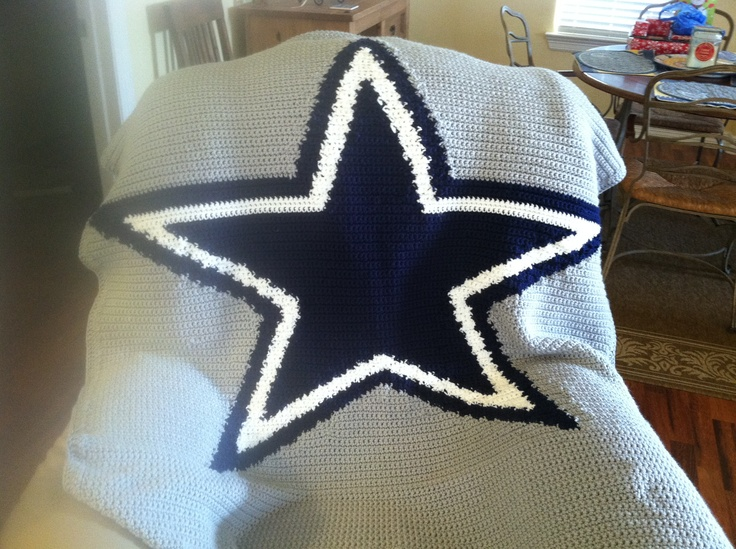 Dallas Cowboys Crochet Blanket I made for Stacy. Angies ...