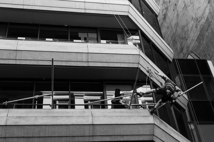 Once again I shot this for both the repetition and the symmetry present in this image. You have 3 levels of the building visible and then you have 3 parts of scaffolding coming out of the building, in a way replicating the buildings levels.