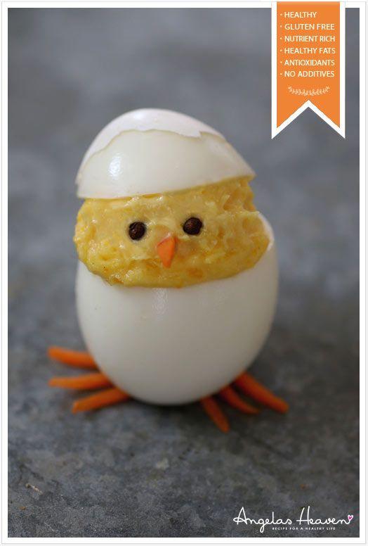 Cute Little Deviled Egg Chicks