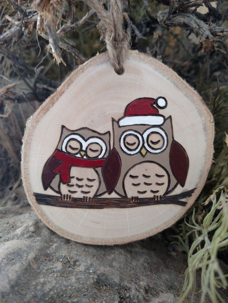 476 best WOODBURNED ORNAMENTS images on Pinterest  Christmas