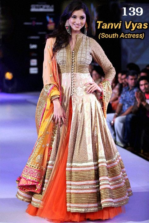 Tanvi Viyas light chiku Anarkali by Arisha-139 - Online Shopping Marketplace Shopdrill.com