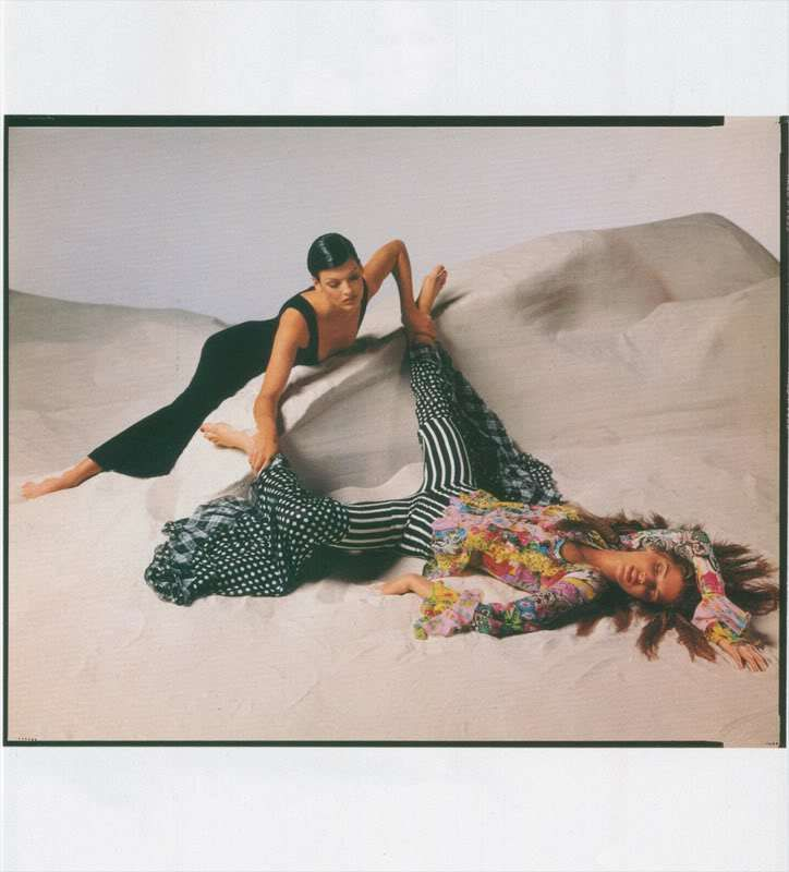 Richard Avedon for Gianni Versace, Vogue Italia February 1993 - Sea of Shoes