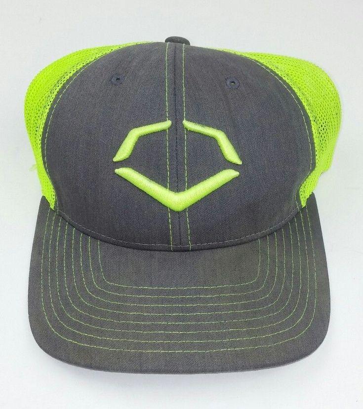 Evoshield Fitted Hat Fluorescent Yellow Gray Fitted Flexfit Large Mesh Sports #EvoShield #BaseballCap