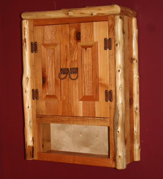 CEDAR LOG Reclaimed Cedar TOILET Cabinet By BarnWoodFurniture72, $350.00