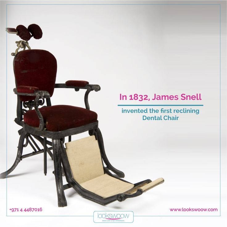 Friday Fact: In 1832, James Snell invented the first reclining dental chair.  #Lookswoow #bestdentalclinicindubai #mydubai #dentalfact #toothpaste #smile #health