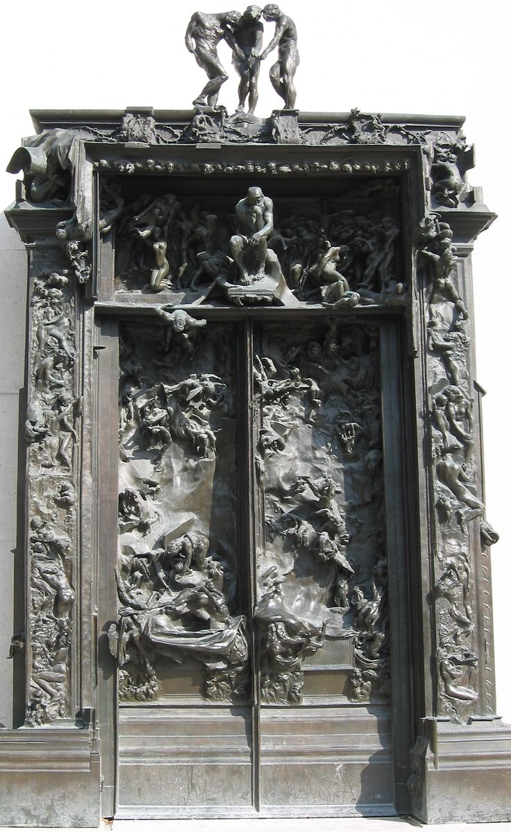 Rodin's The Gates of Hell, inspired by Dante's Divine Comedy.