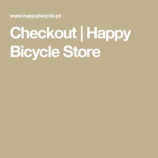 Checkout | Happy Bicycle Store