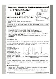 light science experiment vanishing reflection make your own mirror and then make your. Black Bedroom Furniture Sets. Home Design Ideas