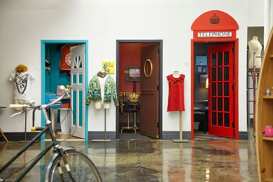 My Daughter Would Love The Telephone Booth Idea!  Maybe A Bedroom Closet Idea???