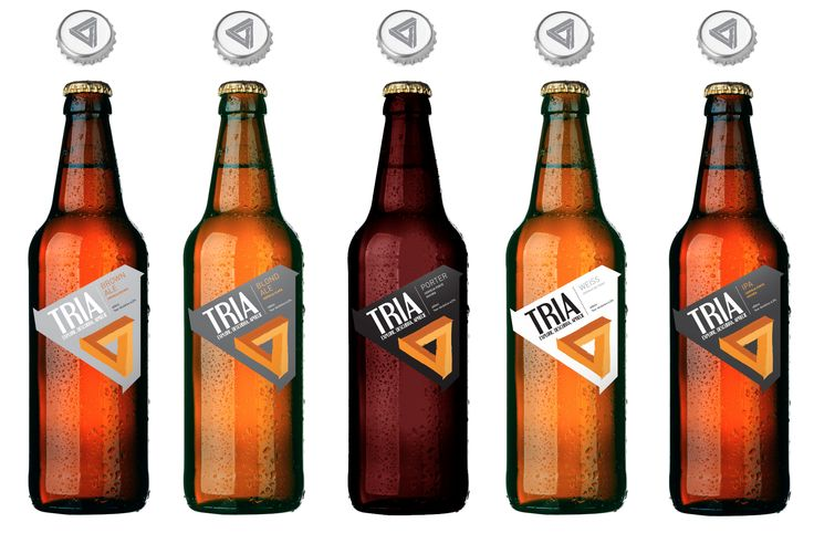 Label concept designs for Tria, a Brazilian microbrewery. Alternative versions. www.tonyjohnsoncreativedesign.co.uk