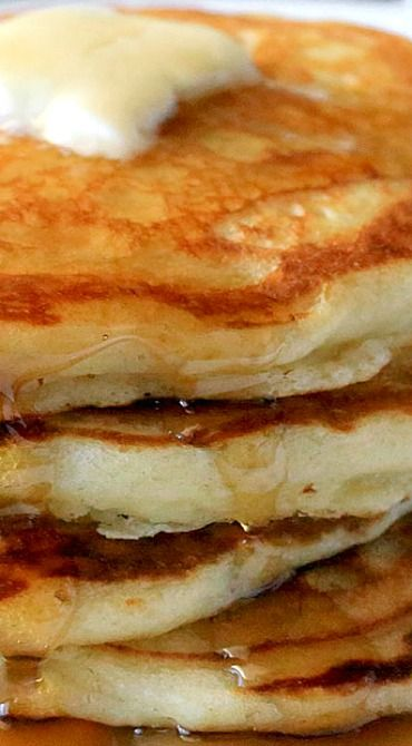 Fluffy Homemade Pancakes ~ Store-bought mix will be a thing of the past after you discover how easy they are to make and how crazy delicious they taste!