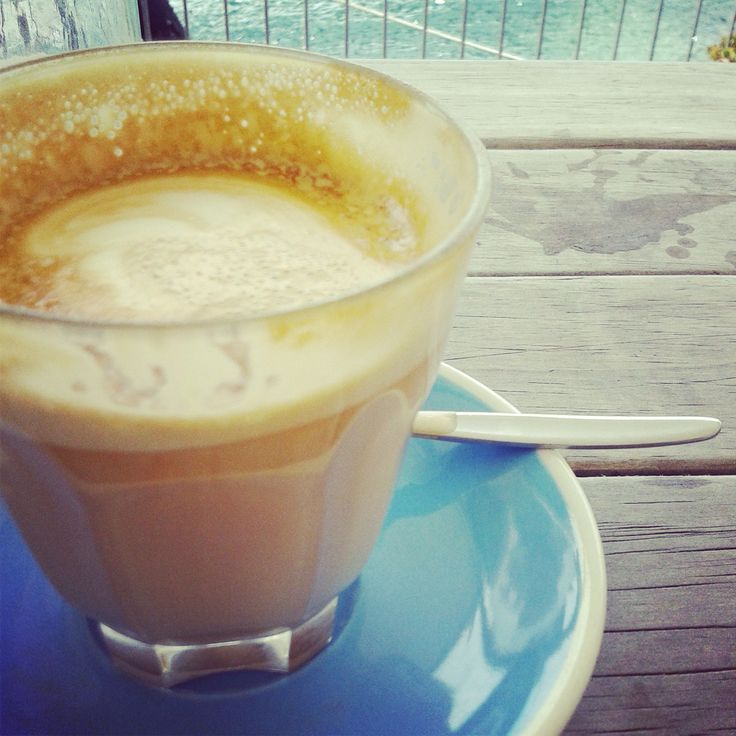 A latte with a view at Boat Cafe http://boatcafe.co.nz/