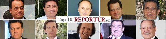 LOS 10 MEXICANOS MAS PODEROSOS DEL SECTOR TURÍSTICO  http://www.reportur.com/mexico/2014/05/12/tras-el-tianguis-asi-queda-el-top-10-reportur-de-los-mexicanos-mas-poderosos-en-el-turismo/