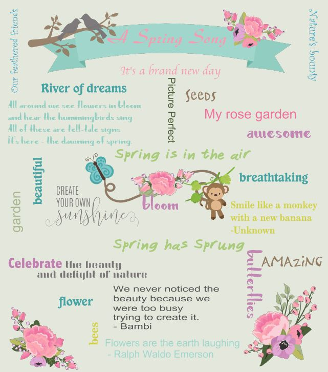 FREE Downloadable PDF print: Words to Inspire your Spring Creations by The Art of Creativity Studio
