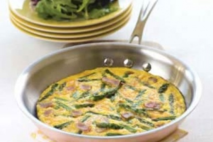 Ham and Asparagus Frittata with Spring Greens | Whole Foods Market
