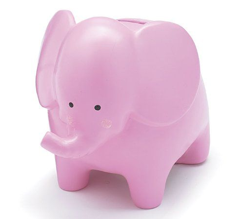 Whimsical Pink Girl Elephant Piggy Bank Great « MyStoreHome.com – Stay At Home and Shop