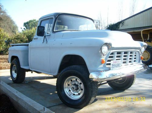 Sell Used 1957 Chevy Pickup Napco 4x4 Shortbed Stepside