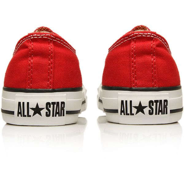 Chuck Taylor Ox Converse Red ($25) ❤ liked on Polyvore featuring shoes, sneakers, converse, zapatos, red, converse shoes, converse footwear, red trainer, red shoes and canvas sneakers