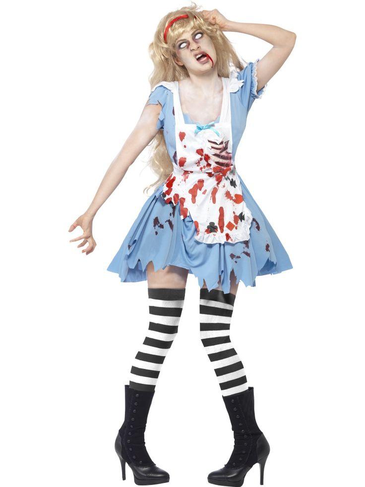 Zombie Liisa. Liisa näyttää seikkaileen Zombiemaassa ja hankkineen ulkomuotoonsa zombiemaisia piirteitä aina esiliinan alta törröttäviä kylkiluita myöten.