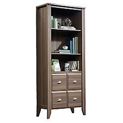 Sauder Shoal Creek 3 Shelf Bookcase With 2 Doors 69 H x 28 716 W x 14 12 D Diamond Ash by Office Depot & OfficeMax